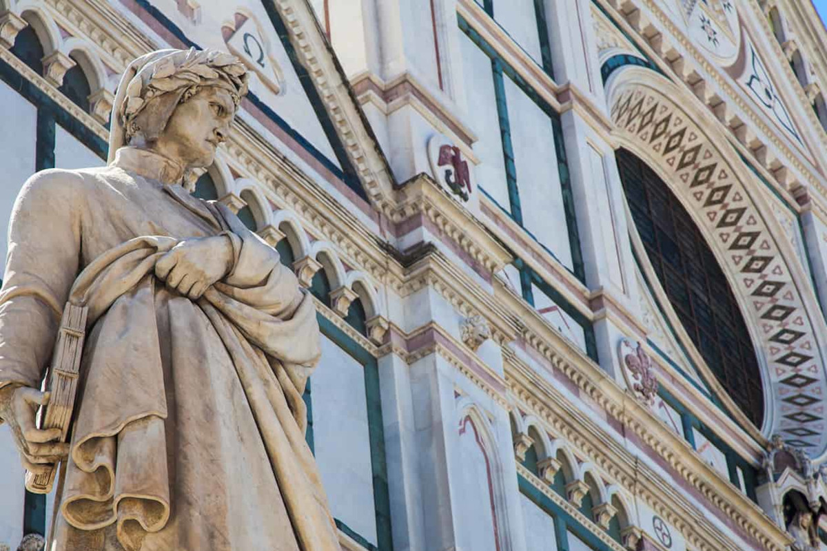 The Basilica of Santa Croce and Dante's places